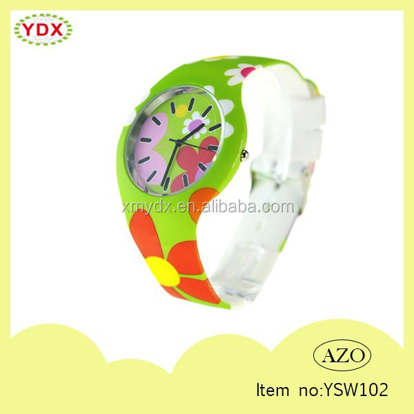 Colorful Printed Silicone Watch Best Christmas Gift Watch
