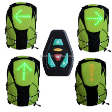 Bicycle led steering lamp ride backpack mountain bike general ride led warning light backpack