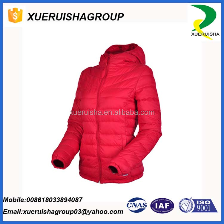 Turkey fashion urltr thin goose feather down filled jacket for hot sale