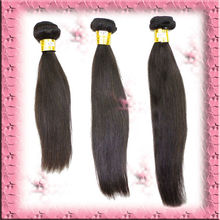 DHL free shipping remy virgin brailian hair extension machine weft straight hair 3pcs lot, natural color,1b#