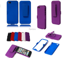 Shell Holster Phone Case Belt Clip Stand Case Back Cover Skin Stand for ipod touch 5 for iphone 6 / 6 Plus / 4S / 5S / 5C