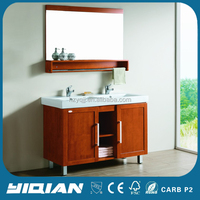 Europe Style Classic Antique Solid Wood Floor Mounted Vanity Bathroom Cabinet