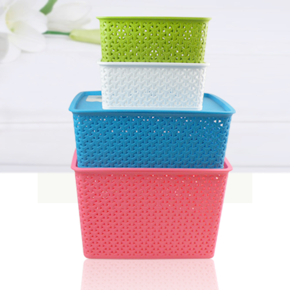 3316set Plastic storage box Preparation of colorful box Desktop trash