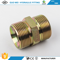 Low price! steel material hydraulic nipples bsp to npt thread adapters