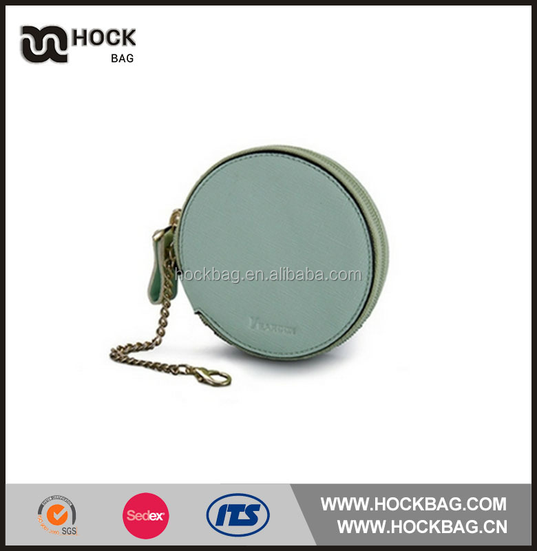 Cute Round Rolling Coin Purse PU Leather Wallet Women