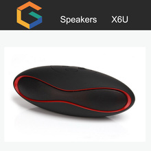 2017 X6u new design wireless bluetooth speaker waterproof with SD card, OEM Handsfree for all Bluetooth Devices