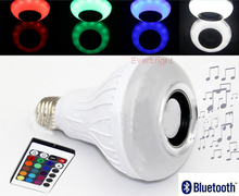 Remote Control Wireless LED Light Bulb E27 Bluetooth Speaker Subwoofer