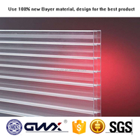 100% virgin materials twin-wall hollow plastic polycarbonate sheet