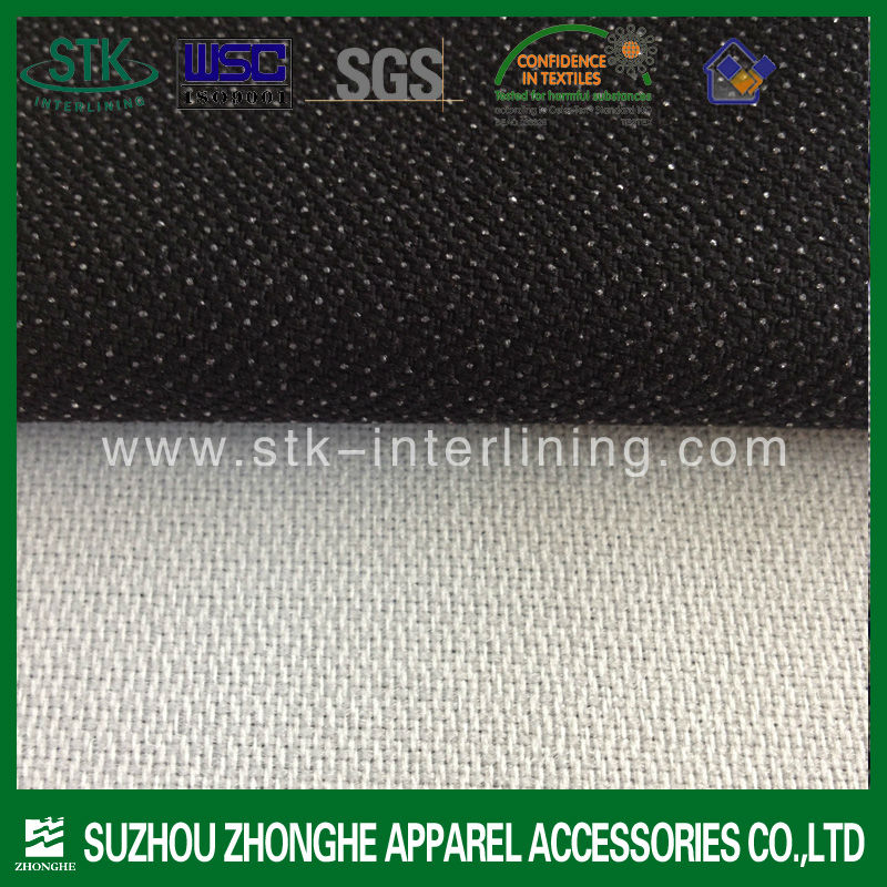 Best quality new fuse interlining for suit 2017