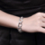 Fashion silver Plated geometry jewelry hollow couple chain bracelet