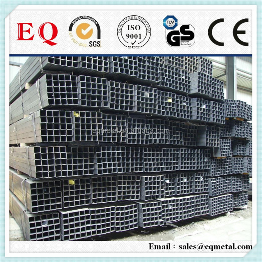 prices of galvanized pipe 75x75 tube square pipe ms square pipe