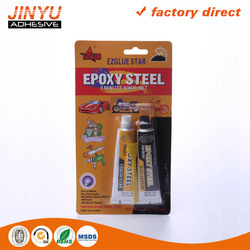 Jinyu wholesale MSDS certification quick and strong adhesive aluminum tube epoxy resin ab glue