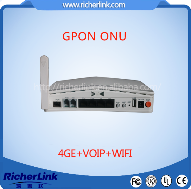 fiber optic wireless router 1ge onu gpon cpe FTTH GPON Terminal ONU ONT (1GE port)