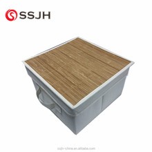 2018 popular bamboo material top quality household fabric foldable storage box
