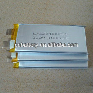 GEB 553485 3.2V 1000mAh High C-Rate 30C LiFePO4 Battery Cell