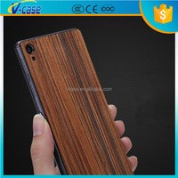 New high quality Ultra thin Wood Pattern Hard back Rubber case for Sony Xperia Z