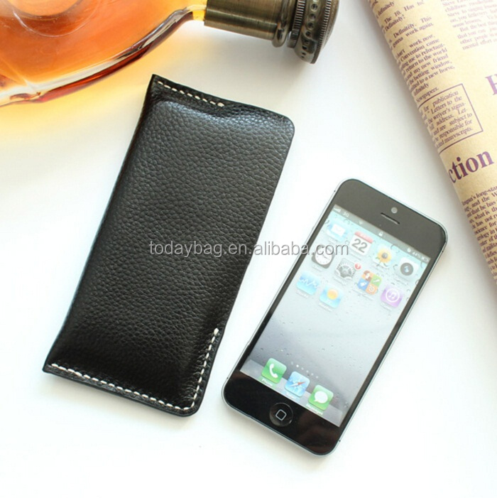 luxury handmade leather mobile pouch mobile accessories 2016