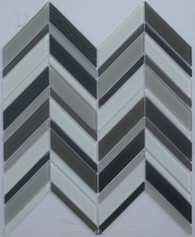 Modern Style arrow design glass mosaic mixed marble mosaic tiles for kitchen 3d tile
