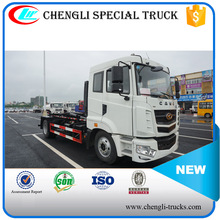 CAMC 4*2 180hp 10CBM 12CBM Detachable Container Hook Arm Garbage Truck With Slip On Unit