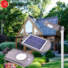 Outdoor Garden Lights Ip65 Solar Motion Sensor Security Light For Garden With 5W Solar Panel Output