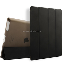 Super skin PU leather case for ipad 4 and Lowest price ,with 4 magnets case