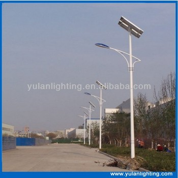 Cheap IP66 30w Solar Street Light Led with CE RoHS IEC Bridgelux 45MIL led chip Light pole 6m