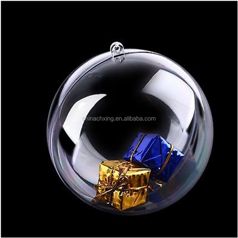 Christmas Xmas Decoration Ornament Tree Transparent Clear Plastic Bauble with factory price