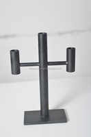 12A704 BLACK STICKER CANDLE HOLDER