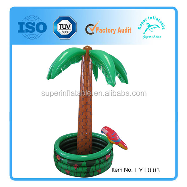 Inflatable Palm Tree Cooler Tropical Luau Hawaii Party Decorations for Pool Fun