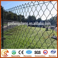 PVC coated galvanized basketball fence 9 gauge chain link fence gold suppier