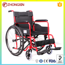 Stainless Folding Portable Steel Manual Wheelchair