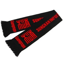 Hot Custom Acrylic Sport fan scarf for Football Team Scarf