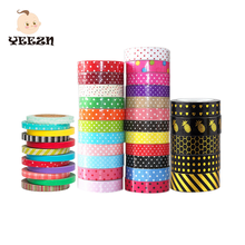 Multi Colored Craft Japanese Crepe Rice Paper Custom Printed Masking Washi Tape
