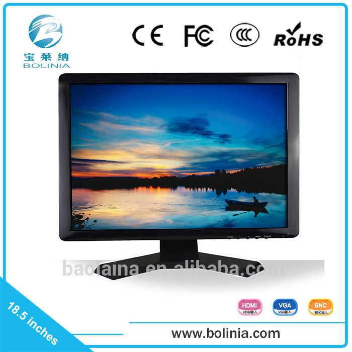 Industrial A grade LCD panel 18.5 inch not second hand computer monitor, small lcd computer monitor