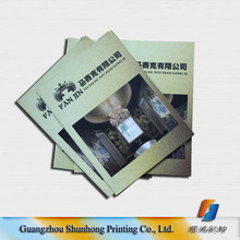 Wholesale factory price customized wallpaper colorful catalogue printing/ fabric catalogue book