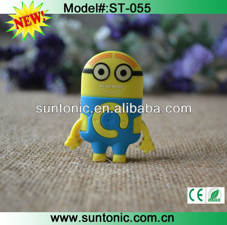 New luanch cute minion mp3 player for promotional gifts