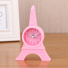 Cartoon funny Eiffel Tower mini-alarm clock