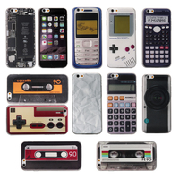 For iPhone 6 Prank Retro Cassette Tape Classic Gameboy Camera Calculator 6s Soft TPU Rubber Gel silicone Phone Case Cover
