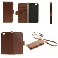 Hot selling OEM 5.5 inch leather flip case for iphone6 cover case
