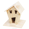 factory sale FSC custom natural wild garden wooden carved bird insect house