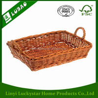 Cheap Natural Wicker French Bread Storage Basket