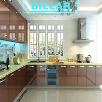 Professional prefab fiber modern kitchen cabinets from China