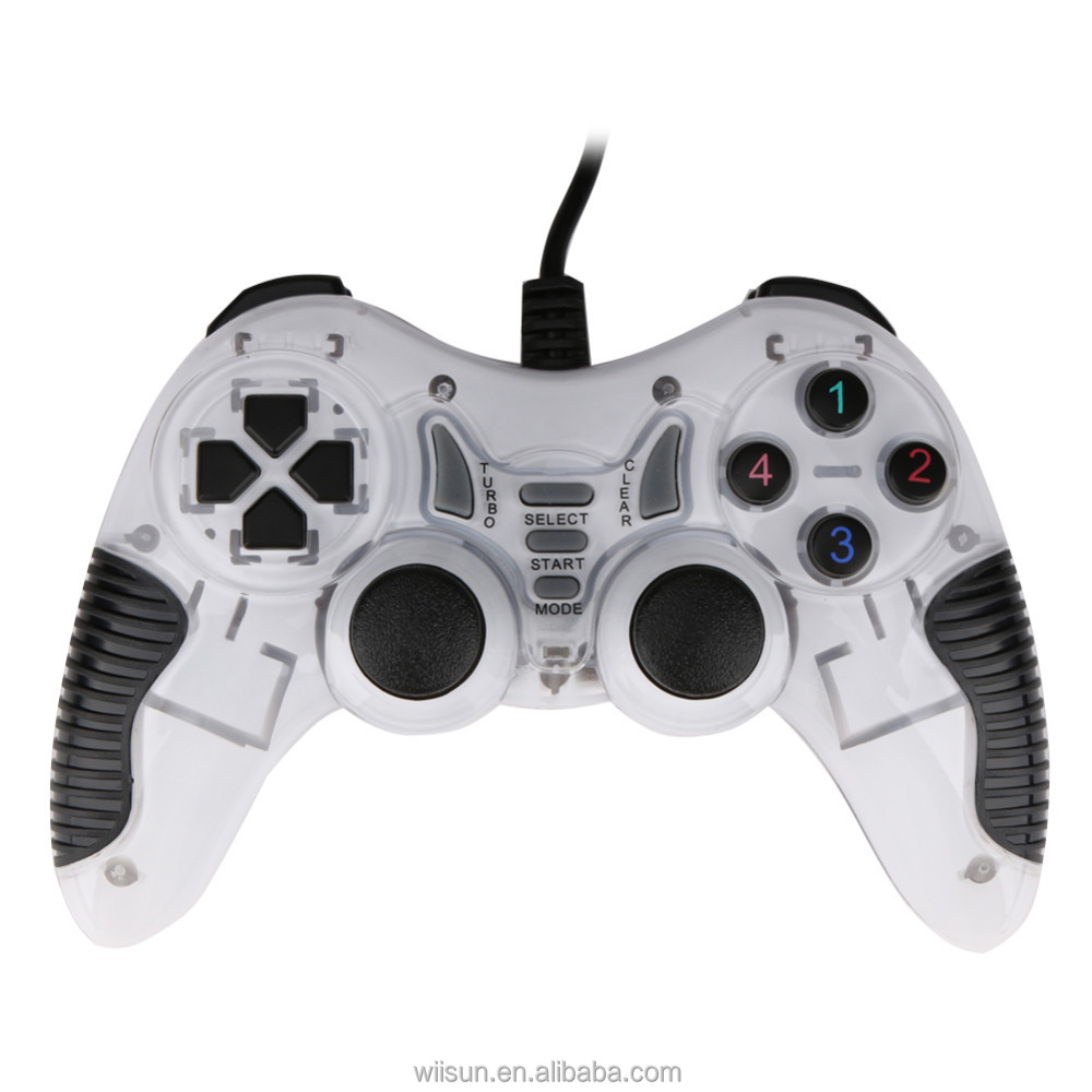 High speed Wired USB Double shock controller for PC computer Game Pad