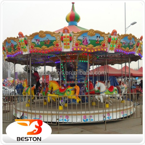 Beston amusement attractions luxury carousel 12 seats merry go round for sale