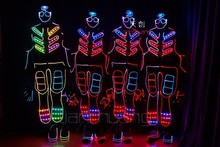 Party Costume 2016 Promotion Dance Wear Led Gloves with Battery for Party Supply