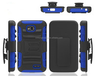 2014 fashion silicon pc combo case for lg optimus l70, 3 in 1 hybrid cases