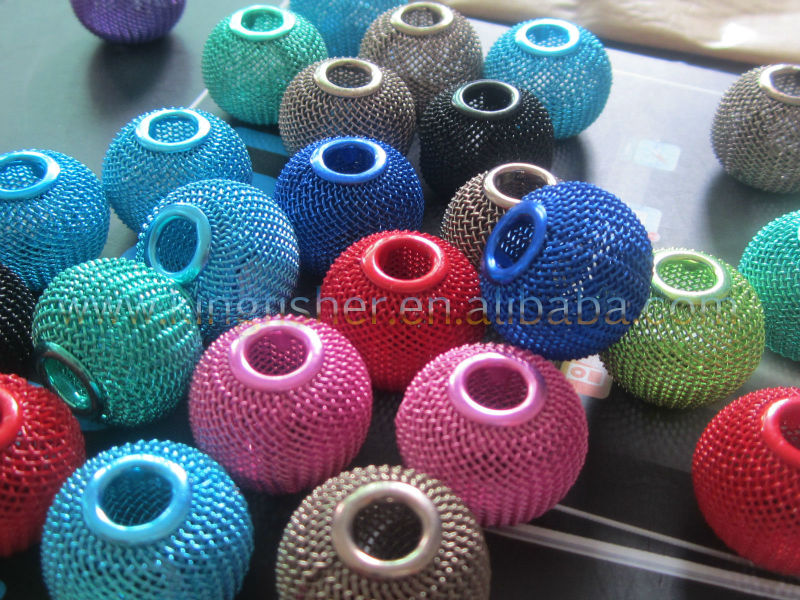 Hottest Sales!! 25MM mixed colors mesh wire spacer ball beads for Basketballs Wives Earrings!! Loose mesh wire balls!! Paypal!!