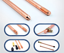 High Purity Copper Ground Rod Electrical Earthing Material