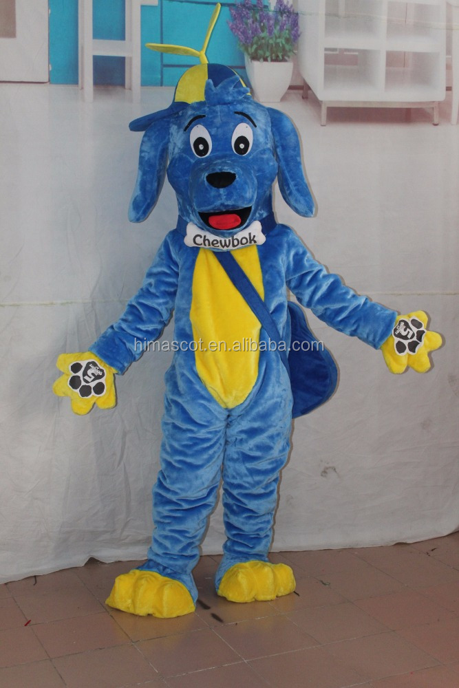 Hot selling blues dog mascot costume