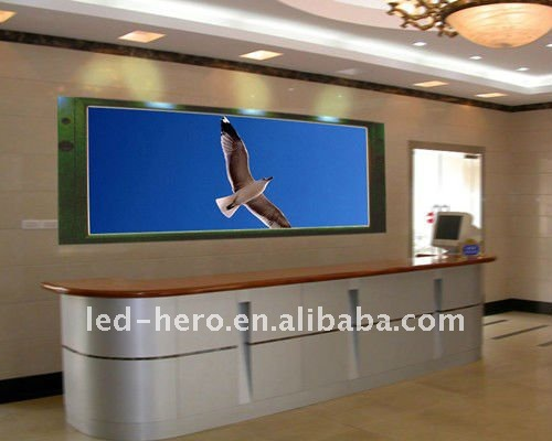 p6 indoor led front desk agent screen video